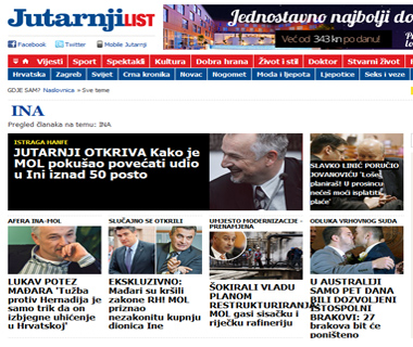 Vijesti sa jutarnji.hr u vezi Ina d.d.