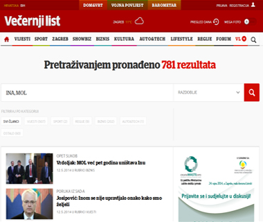 Vijesti sa vecernji.hr u vezi Ina d.d.